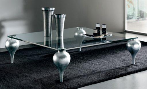 Mesa de centro de vidrio Aiko de Kibuc