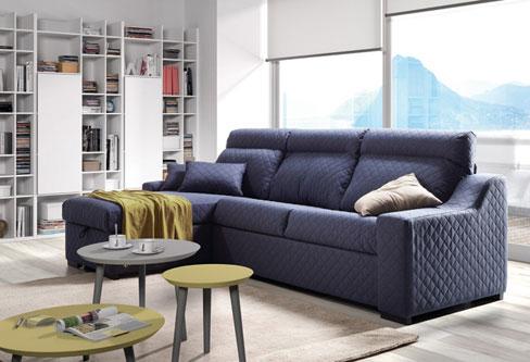 Cómo elegir sofá cama. Sofá Friend de Kibuc con chaise longue