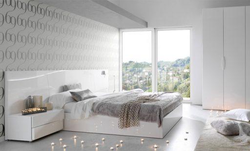 Para decorar dormitorios relajantes apuesta por los cabezal con luz LED. Cabezal Ola con luz led de Kibuc