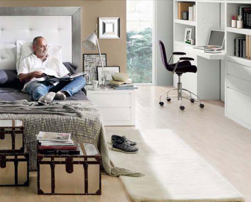 Para decorar dormitorios relajante te recomendamos los cabeceros tapizados. Cabecero Aiko de Kbuc.