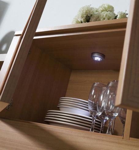 Ahorrar luz. Los leds son recomendables para rincones que no precisan mucha iluminación.