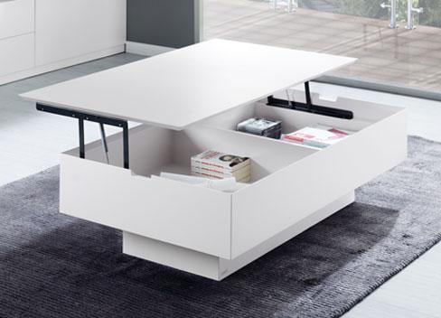 Ideas para organizar tu casa. Mesa elevable de la colección Sombra de Kibuc.