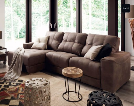 Ventajas de los sofás con chaise longue. Sofá Sydney de Kibuc.