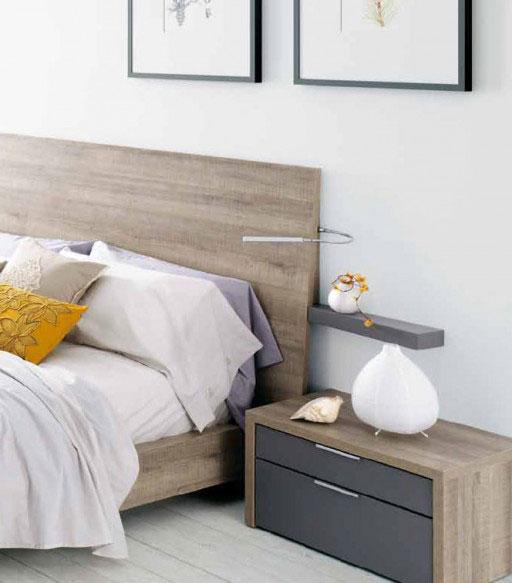 Iluminar el dormitorio. Cabezal Nuit con flexo incorporado