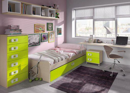 Consejos para iluminar dormitorios infantiles. Dormitorio Niu de Kibuc