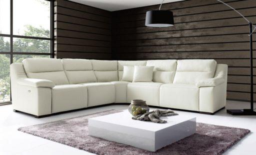 Ventajas de los sofás de piel. Sofá Napoli de Kibuc