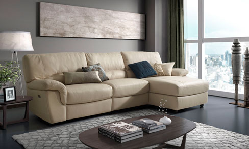Ventajas de los sofás de piel. Sofá Torino de Kibuc.