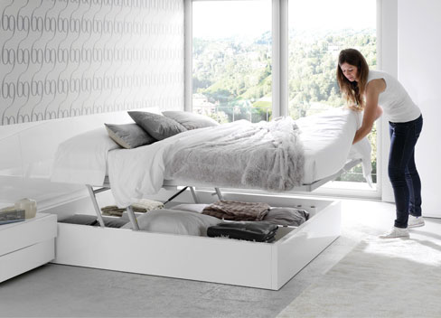 Ideas para organizar el dormitorio. Cama de la colección Slaap de Kibuc