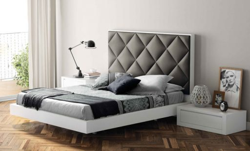 Elegir el cabecero de la cama. Cabecero tapizado de la colección Aiko de Kibuc. Tapizado titán.