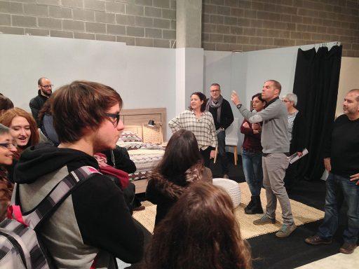 Los estudiantes del sector del diseño descubrieron los nuevos productos Kibuc en el showroom