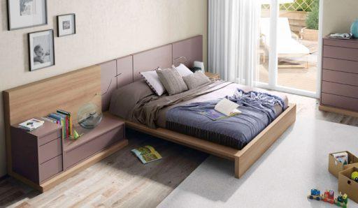 Elegir el cabecero de la cama. Cabecero de la colección Slaap de Kibuc  con espacio para almacenar.