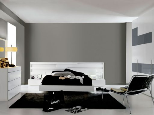Elegir el cabecero de la cama. Cabecero de la colección Nuit de Kibuc en acabado lacado blanco.
