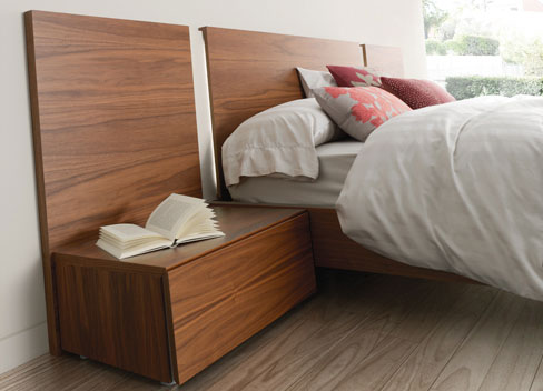 Elegir el cabecero de la cama. Cabecero de la colección Slaap de Kibuc de estilo natural
