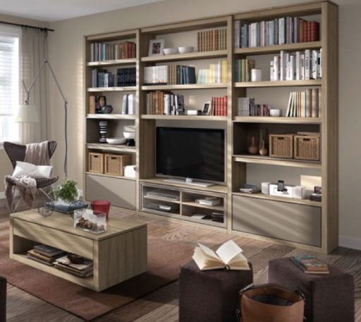 Almacenaje para el salón. Organiza tus libros en esta librería Athos de kibuc.