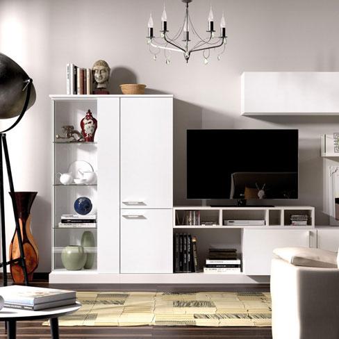 Trucos para decorar salones pequeños. Mueble para comedor de la colección Eko-s de Kibuc.