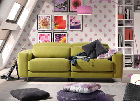 Nos vamos a vivir juntos. Consejos para decorar vuestro primer hogar. Sofá Tuit de Kibuc