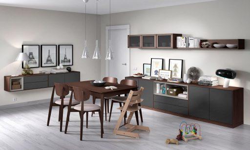 Muebles auxiliares para la sala. Composición de comedor Transfer de Kibuc