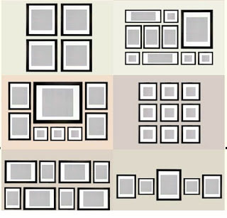 Cómo distribuir los cuadros en la pared. Distribución simétrica