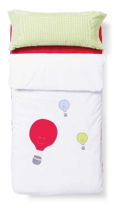 Textil para bebés de la colección Kids. Funda nórdica Globos