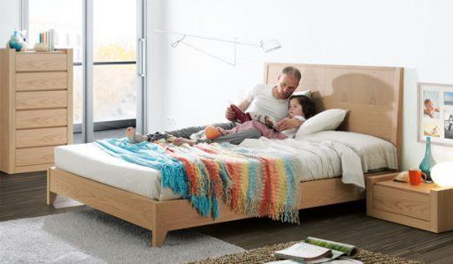Cómo distribuir los muebles en el dormitorio. Dormitorio Doria de Kibuc