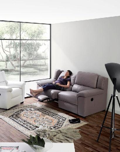 Cómo hacer una buena siesta. Sofá de piel Palermo. Muy confortable