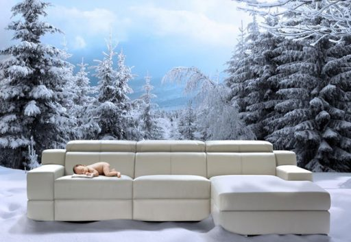 Elegir la tela del sofá. Sofá Davao de Kibuc con tecnología calefactable