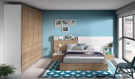 Descubre qué es el color acento. Dormitorio de la colección Nuit de estilo natural