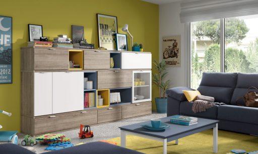 Descubre qué es el color acento. Mueble para el salón de la colección Signos