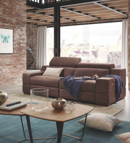 Decorar con cojines el sofá. Sofá relax Davao de Kibuc