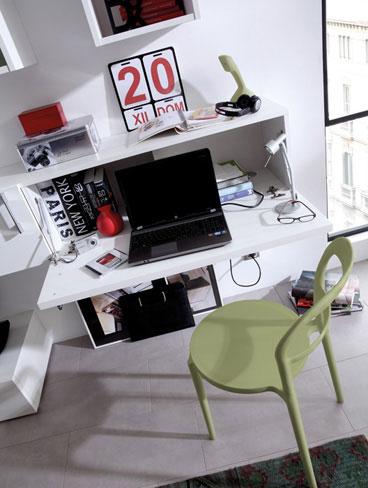 Consejos para decorar una zona de trabajo. Escritorio abatible de la colección Ekos.