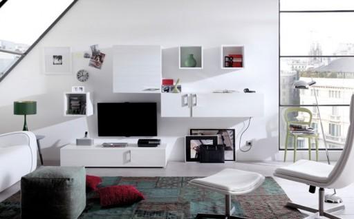 Trucos de decoración para ampliar espacios pequeños. Comedor modular de la colección Eko-s