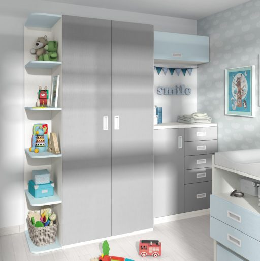 Consejos para preparar la habitación del bebé. Armario y cómoda para bebé Kids de Kibuc