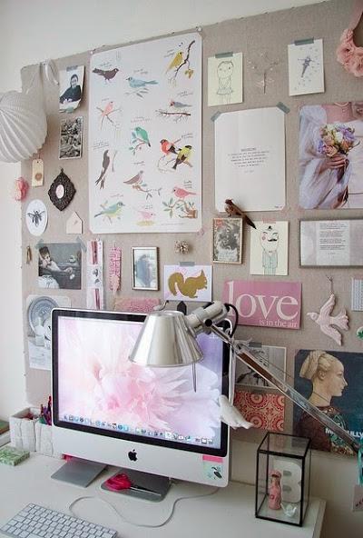 Consejos para decorar una zona de trabajo en casa. Incorpora un muro de inspiración para darle personalidad a tu zona de trabajo.