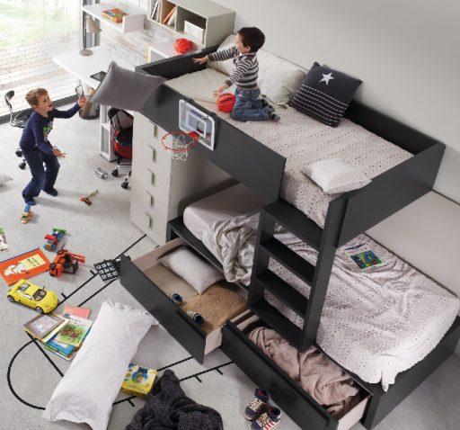 Trucos para diseñar una habitación infantil. Litera de la colección Chroma