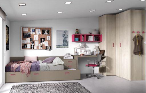 Cómo elegir colores para un dormitorio juvenil.. Dormitorio de la colección Chroma en tonos neutros