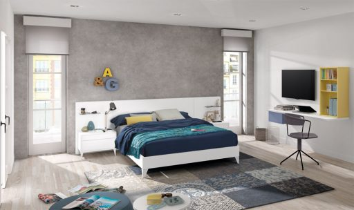 Consejos para decorar una zona de trabajo en casa. Dormitorio de la colección Nuit.