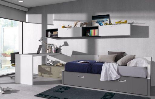 Cómo elegir colores para un dormitorio juvenil. Diseño neutro de la colección Chroma