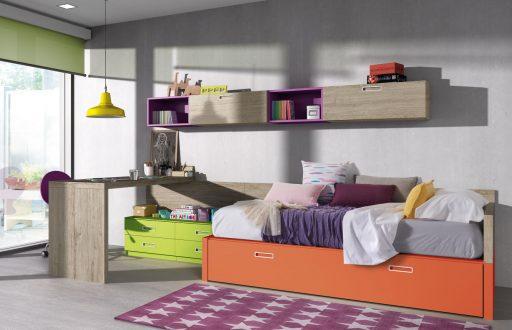 Cómo elegir colores para un dormitorio juvenil. Diseño colorista de la colección Chroma