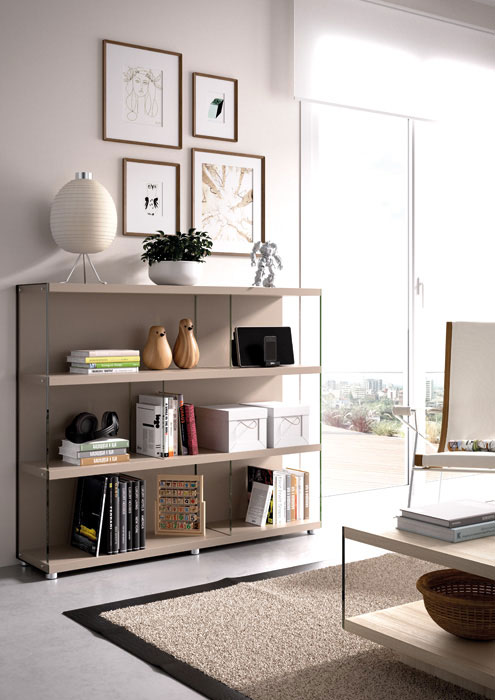 Librería Eko-s con laterales de cristal