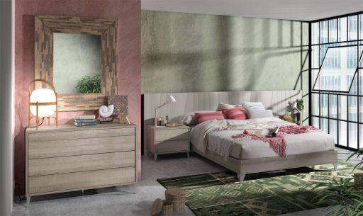 Dormitorio muy natural de la colección Nuit