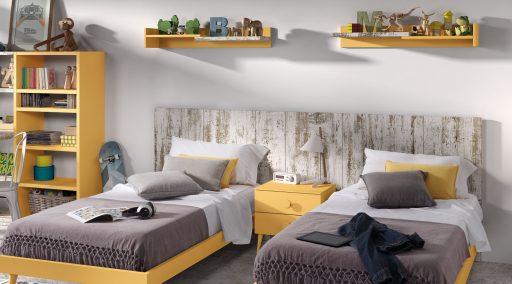 Habitaci n compartida cama nido literas o dos camas - Habitacion pequena dos camas ...