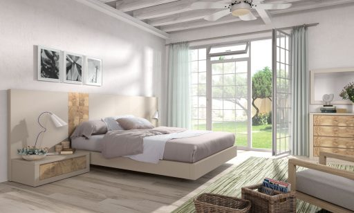 Dormitorio Asai de acabado natural