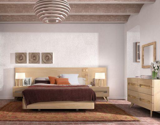Dormitorio de estilo natural Asai
