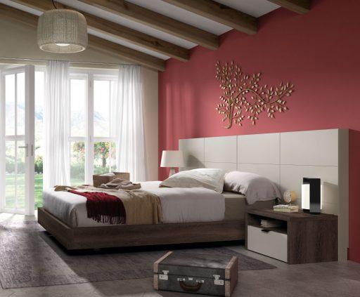 Decorar con colores cálidos. Dormitorio de la colección Nuit