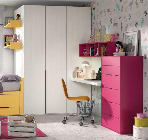 Soluciones de almacenaje para dormitorios infantiles y juveniles. Cómoda Chroma
