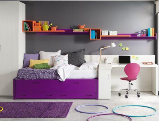 Soluciones de almacenaje para dormitorios infantiles y juveniles. Galería pared Chroma