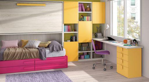 Soluciones funcionales para dormitorios infantiles y juveniles. Colección Chroma