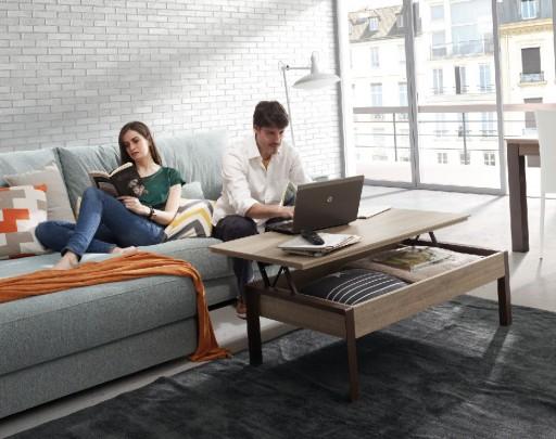 Decorar una casa saludable en la que sentirte feliz. Mesa de centro extensible Signos