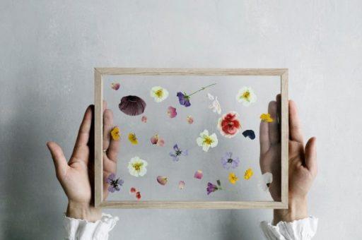 DIY-wallart-con-flores